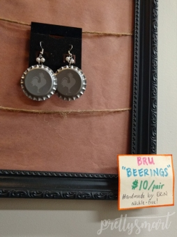 Bottle Cap earrings, aka Beerings