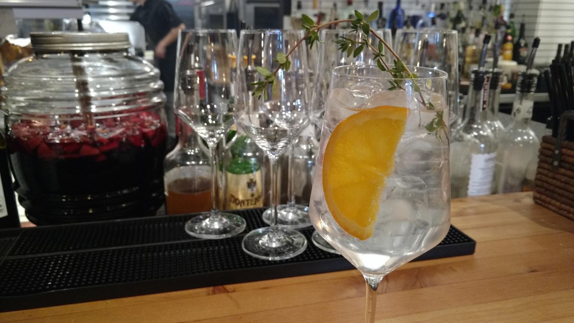 Spanish Gin and Tonic at Cabriota Tapas