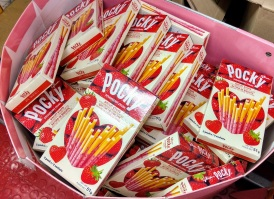 Strawberry Cream Coated - Heart Shaped Pocky