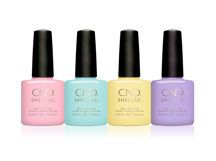 Candied (Light Pastel Pink), Taffy (Pastel Turquoise), Jellied (Pastel Yellow) and Gummi (Pastel Lavender Purple)