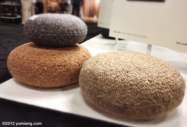 Knit stone footstools